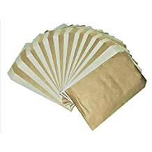 """50 Bags 4"""" x 6"""" Kraft/White Flat Paper Bags for candy, cookies, merchandise, pens, Party favors, Gift bags"""