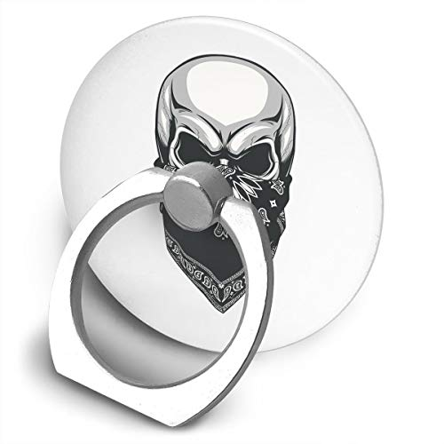 Yuotry 360 Degree Rotating Ring Stand Grip Mounts Cool Masked Skull Universal Phone Ring Bracket Holder Smartphone Ring Stent]()
