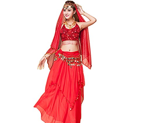 Belly dance Indian dance Performance costumes sexy Belly dance red - Sexy Belly Dancing Costumes