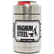 Amazon Lightning Deal 90% claimed: 12 oz JACKET - CAN & BOTTLE Insulator - Stainless Steel Double Wall Vacuum Insulated Thermos Beverage Cooler