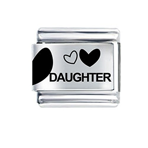 (SEXY SPARKLES Love Daughter with Hearts Italian Bracelet Charm)