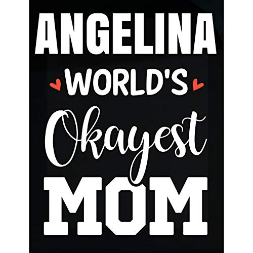 - Inked Creatively Angelina World's Okayest Mom Funny Gift for Mom - Sticker