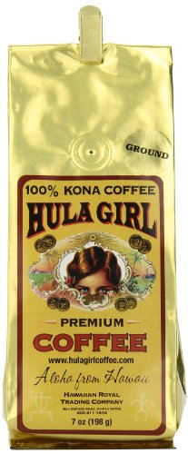 Hula Girl 100% Kona Coffee D, 7 Ounce