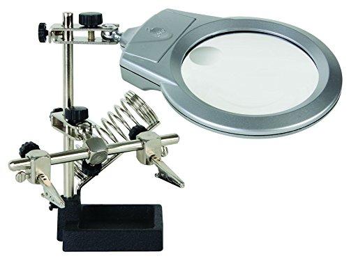 Dritte Hand mit Lupe, LED-Lampe und Lötkolbenständer