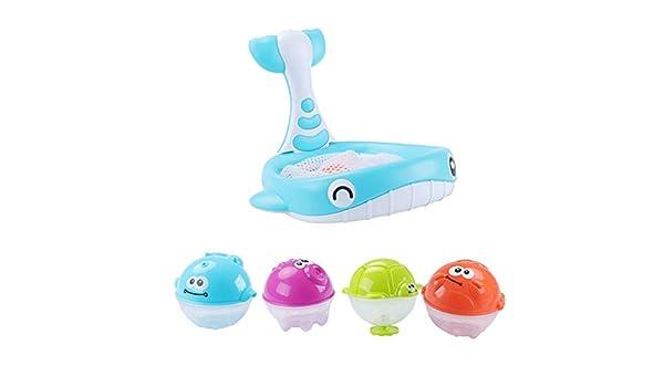 Juguetes para niños Regalo del día de los niños Cebbay Baño de bebé Flotante Suave Goma Animales Agua Bañera Juguete Squirts Spoon-Net 1 Juego: Amazon.es: ...