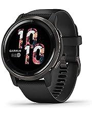 Garmin Venu 2 Smartwatch with AMOLED Touchscreen, 40/45mm, Black/Black