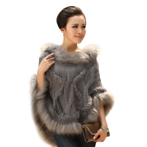 Ferrand Women S Large Real Genuine Raccoon Fur Cape Shawl