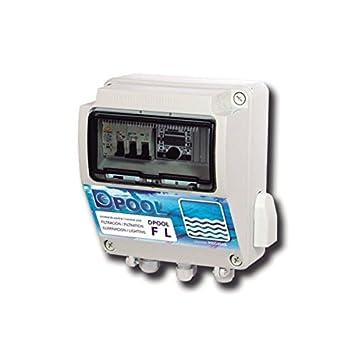 DPOOL Cuadro electrónico Piscina Filtración e Iluminación - Con diferencial y transformador de 100 W: Amazon.es: Jardín