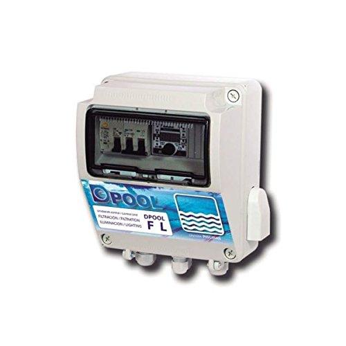 DPOOL cuadro Electrónico piscina Filtración e Iluminación – con blutooth y Transformador de 100 W