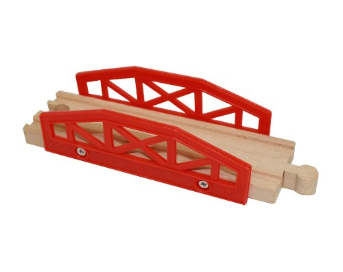 wooden train track bridge piece by right track toys 100 import it all. Black Bedroom Furniture Sets. Home Design Ideas