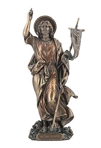 XoticBrands St John The Baptist (Mbz+Color) - Religious - Cold Cast Bronze...