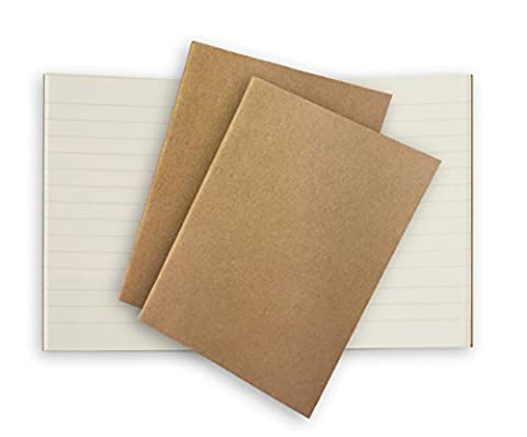 Traveler's Notebook 3 Pack Cream Lined Inserts for Pocket Leather Journals 5