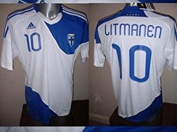 Finlandia Jari Litmanen Adulto XL Camiseta Jersey fútbol – Liverpool de AJAX