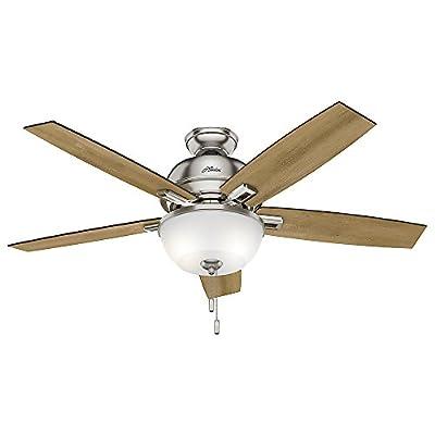 "Hunter Fan Company 53335 52"" Donegan Ceiling Fan with Light, Brushed Nickel"
