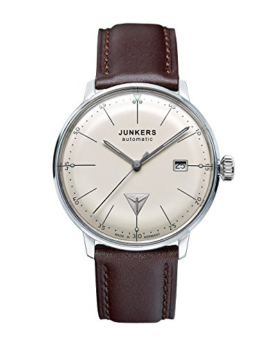 Junkers Bauhaus Swiss ETA Automatic Watch with Domed Hesalite Crystal...