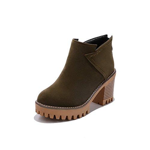 ABL09990 Slip Platform Boots Urethane Womens Resistant BalaMasa Claret EYSwqvv