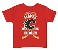 NHL Calgary Flames Kids Tee, 3 Tall, Red