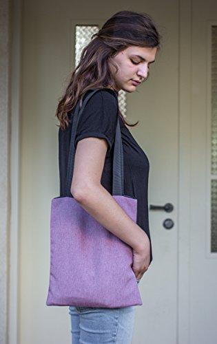 Amazing Canvas Tote Bag - Back to school bag - Shoulder Bags For Women - Handmade Handbag - Inside Pocket - Black Linen