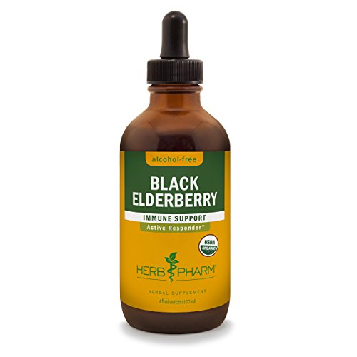 Berry Organic Alcohol (Herb Pharm Certified Organic Alcohol-Free Black Elderberry Glycerite for the Immune System - 4 Ounce)