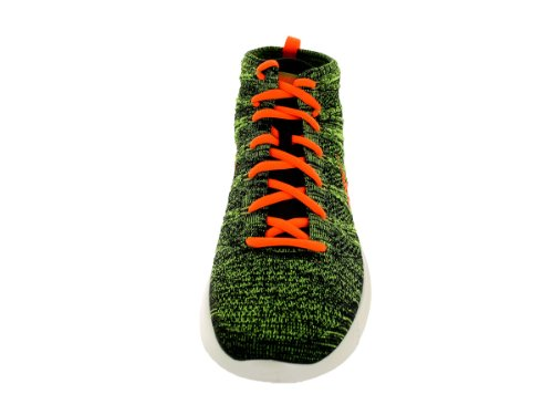 Nike Lunar Flyknit Chukka Sports Training Shoes Black, Ttl Orange-sq-prcht-gld