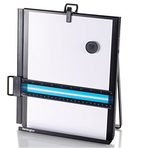 Kensington Metal Letter Size Copyholder with Line Guide and Magnetic - Fellowes Copyholder Metal