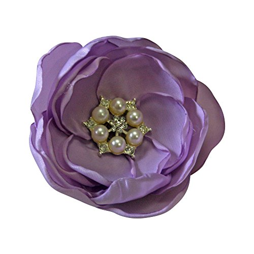 Lavender Flower Pearl Wedding Bridal Headpiece Bridesmaid Flower Hair Clip Prom by Cleo Classic Designs