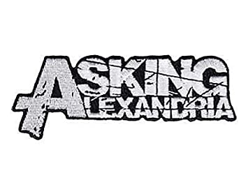 amazon com asking alexandria logo iron on sew on embroidered patch rh amazon com metal band logo meme metal band logo game