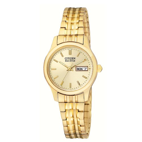 Citizen Women s EW3152-95P Eco-Drive Flexible Band Gold-Tone Watch