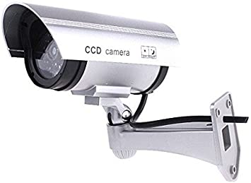 Opinión sobre BW Outdoor Indoor Fake Dummy Imitation CCTV Security Camera W/Blinking Flashing Light Bullet Shape Silver, [Importado de Reino Unido]