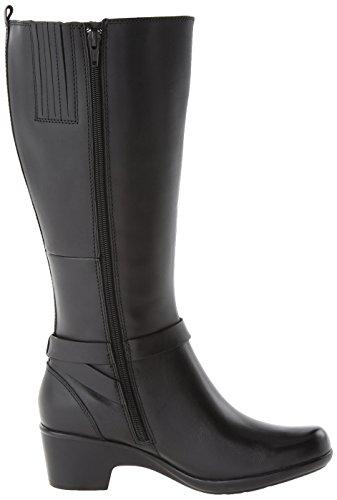 Clarks Malia álamo Boot Black Leather