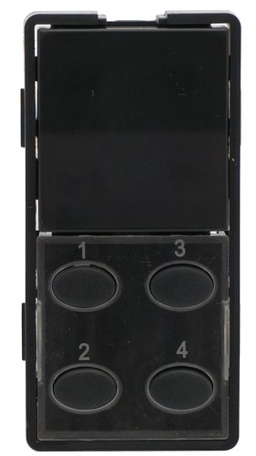5O-BN Single-Rocker with Oval 4-Button Faceplate, Brown ()