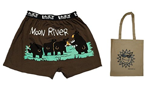 (Moon River Version 2 Adult Comical Boxer Shorts & Tote - Multi-Pack (Medium 32-34))