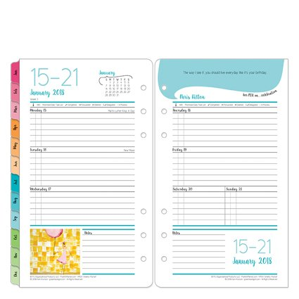 Her Point Of View Weekly - Pocket Her Point of View Weekly Ring-bound Planner - Jan 2018 - Dec 2018