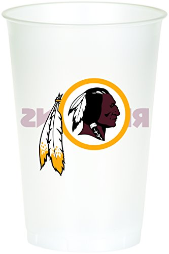 Creative Converting 8 Count Washington Redskins Printed Plastic Cups
