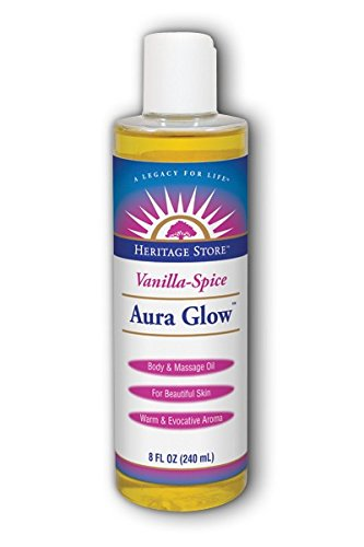 Aura Glow Massage Oil-Vanilla/Spice Heritage Store 8 oz Liquid Aura Glow Massage Oil