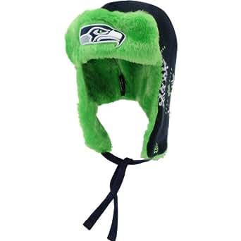 NFL Seattle Seahawks Snowflake Trapper Winter Hat