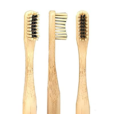 The Dirt All Natural Eco Friendly Bamboo Toothbrush with Charcoal Infused Bristles