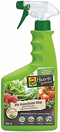 Compo Insecticida para hortícolas, Apto para Agricultura ecológica, Control de plagas en hortalizas y Plantas aromáticas, 750 ml, 36x11x5 cm