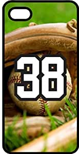 iphone covers Baseball Sports Fan Player Number 38 Black Plastic Decorative Iphone 5 5s Case