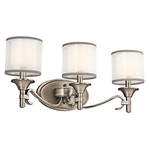- Kichler 45283AP Lacey Bath 3-Light, Antique Pewter