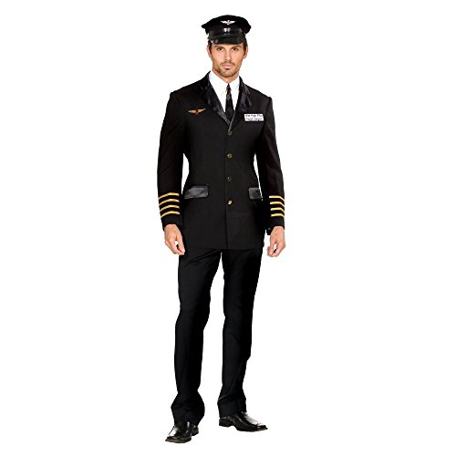 Mile High Pilot Hugh Jorgan Adult Costume - Large