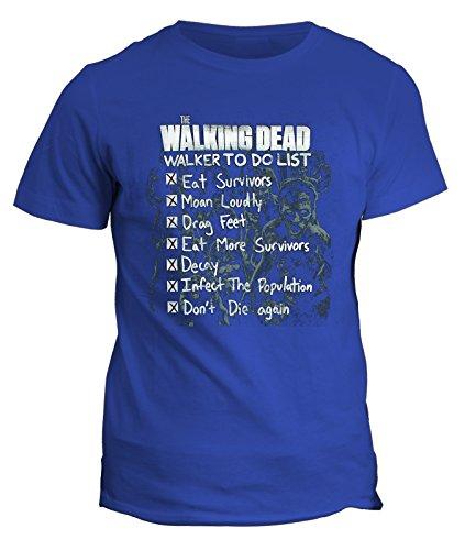 Blu Tv Tshirt Cotone Telefim Walking Dead Horro Teschi Serie By Zombie In Fashwork n7BRqAx4x