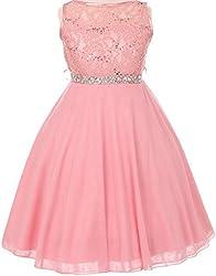 Rhinestones Shiny Flower Girl Dress