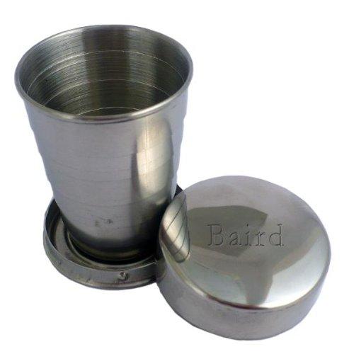 Plegable de acero inoxidable vaso - Nombre grabado: Baird ...