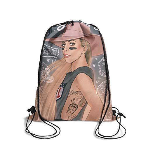 Brookefghgsh Drawstring Bag School Nylon Cinch Bags Sack Bag Drawstring Bag]()