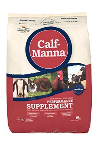 Manna Pro 0093982232 Calf-Manna Ultimate Multi-Species Performance for Animals, 10-Pound