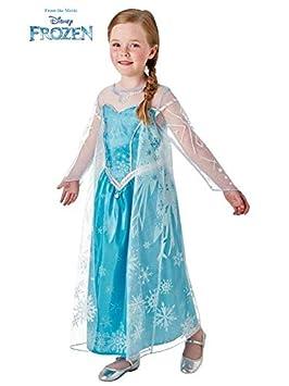 DISBACANAL Disfraz de Elsa Frozen Deluxe niña - Único, 5-6 años