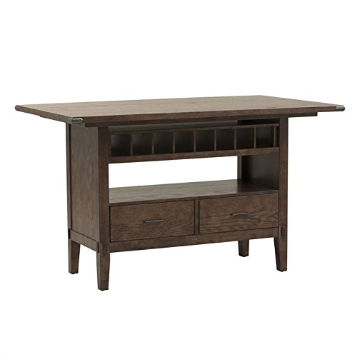 Cheap Liberty Furniture Cabin Fever Counter Height Dining Table in Brown