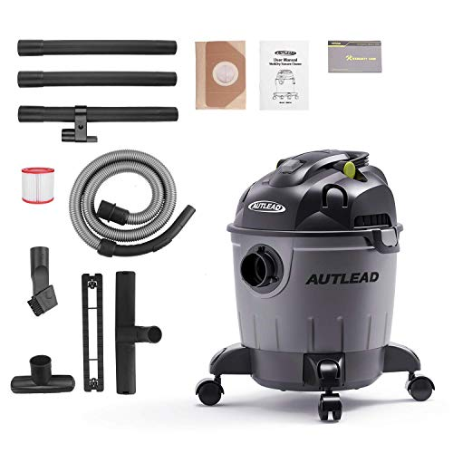 AUTLEAD Wet Dry Vacuum WDS01A 5 Gallon Pure Copper Motor 5.5 HP Wet/Dry/Blow 3 in 1 Shop Vac, Stable Round Bucket Design with Pulley System, HEPA Disposable Bag, 3 Brush Included[US Stock] by AUTLEAD (Image #8)