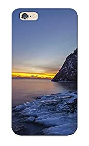 [HniJQ0LdwcF]premium Phone Case For Iphone 6/ Nature Landscapes Cliff Winter Snow Sky Sunset Sunrise Ocean Sea Inlet Tpu Case Cover(best Gift Choice)